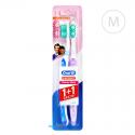 Oral-B 3-EFFECT Delicate White 1+1 Duopack - Medium - niebieska i jasnofioletowa
