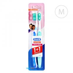 Oral-B 3-EFFECT Delicate White 1+1 Duopack - Medium - niebieska i jasnozielona