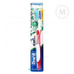 Oral-B 3D WHITE Fresh - Medium - czerwona