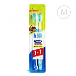 Oral-B 3-EFFECT Natural Fresh dwupak - Medium - jasnoniebieska i niebieska