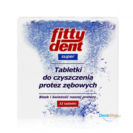 FittyDent Super tabletki do czyszczenia protez 32 szt.