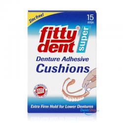 FittyDent Super Cushions 15 szt. podkładki klejące do protez